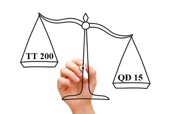 Sự khác biệt giữa thông tư 200 và quyết định 15