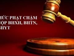 Mức phạt chậm nộp BHXH, BHTN, BHYT