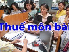 Cách lập và nộp tờ khai thuế môn bài mới nhất
