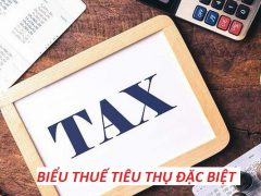 Biểu thuế tiêu thụ đặc biệt