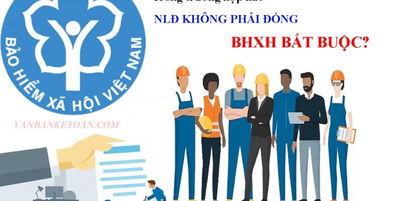 Trong trường hợp nào người lao động không phải đóng BHXH bắt buộc