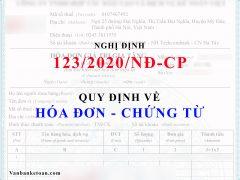 Quy định về hóa đơn điện tử theo Nghị đinh 123/2020/NĐ-CP