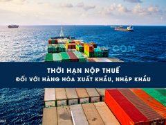 Thời hạn nộp thuế xuất khẩu, nhập khẩu
