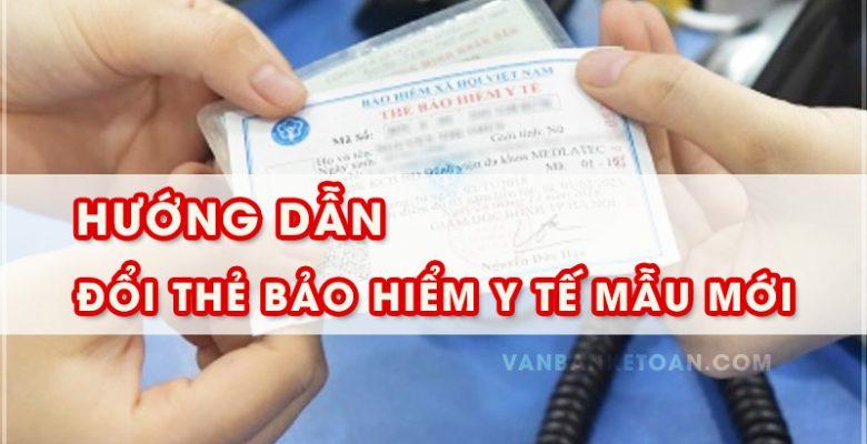 Hướng dẫn đổi thẻ bảo hiểm y tế mẫu mới